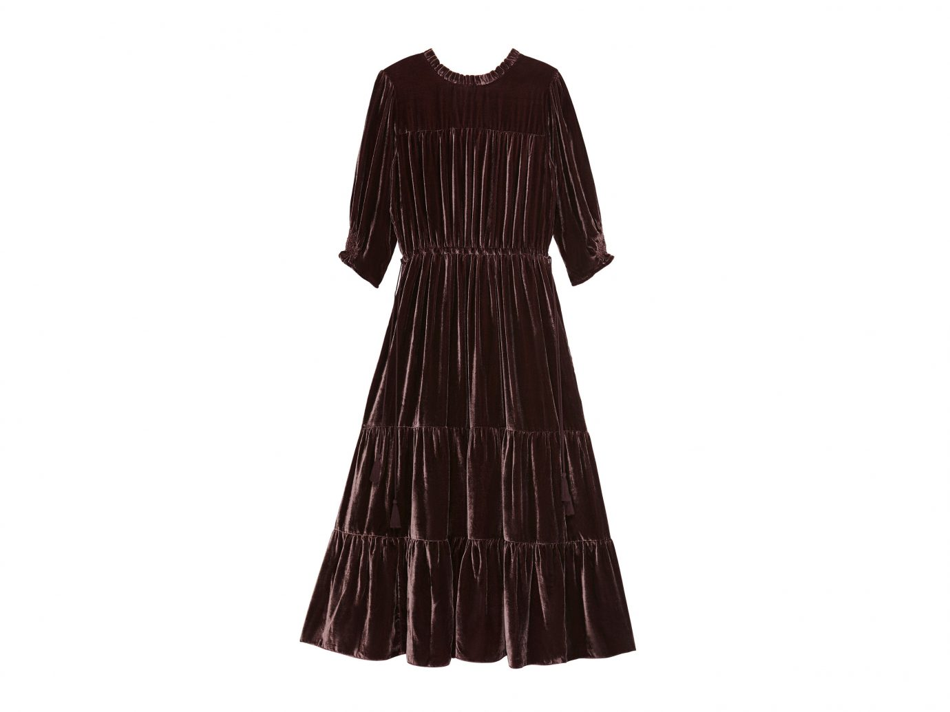 Style + Design clothing dress black sleeve brown gown pattern Design textile blouse fashion outerwear formal wear costume cocktail dress material velvet