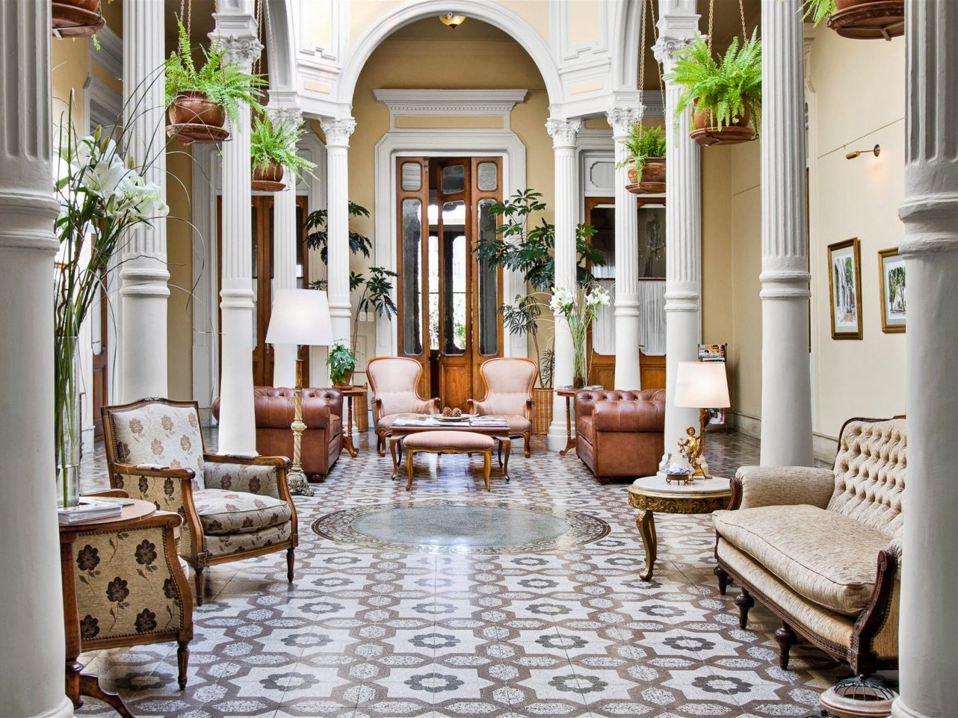 Boutique Hotels Luxury Travel chair interior design living room Lobby room column furniture home estate real estate window flooring area
