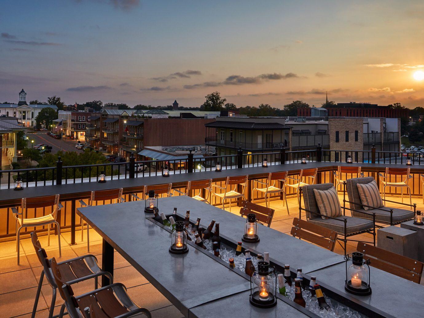 Trip Ideas sky outdoor evening plaza cityscape dusk Resort Sunset City dock orange