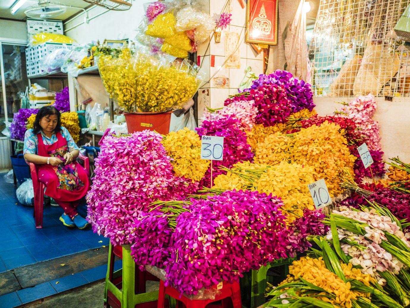 Jetsetter Guides color flower floristry flower arranging flora colorful plant public space retail floral design market different colored Shop fresh