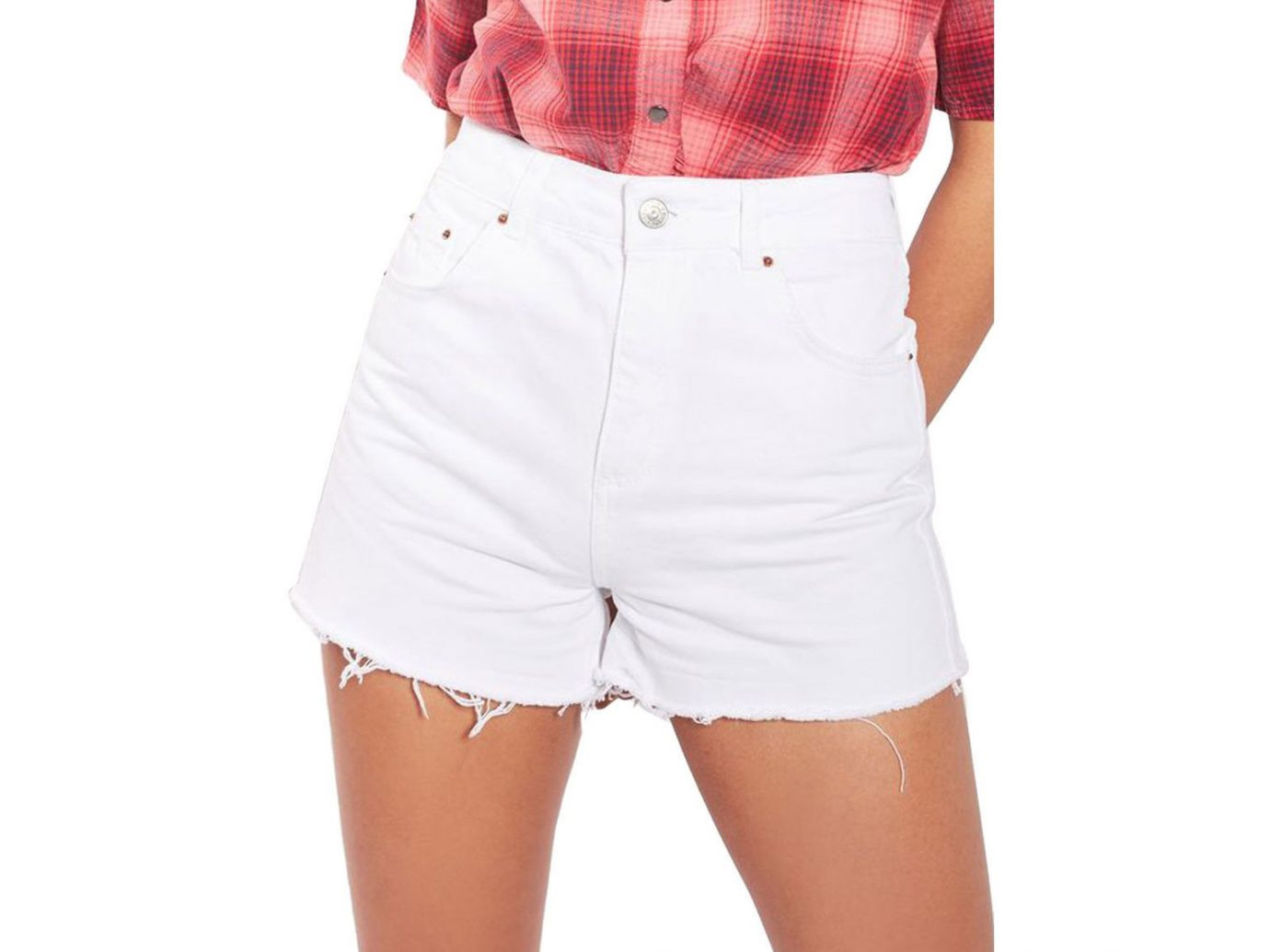 Style + Design person clothing shorts wearing trunks pocket posing abdomen sleeve pattern textile trouser
