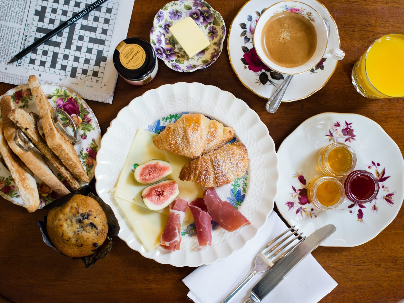 Boutique Hotels Budget Hotels London Romantic Hotels table plate food cup dish meal breakfast brunch lunch produce baking hors d oeuvre cuisine Drink restaurant set