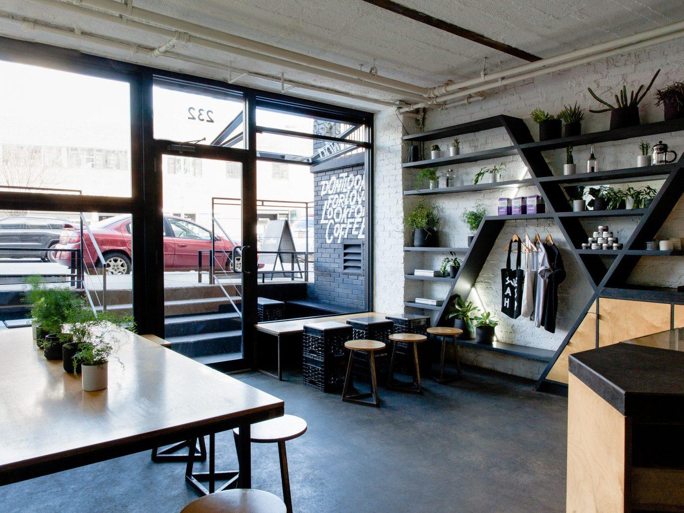 Brooklyn City Food + Drink NYC indoor table floor room window Living ceiling interior design loft furniture Dining area