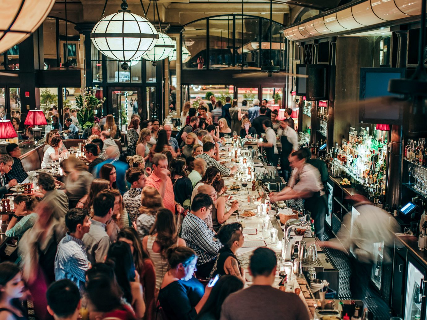 Boutique Hotels Fall Food + Drink Hotels Outdoors + Adventure Weekend Getaways building person crowd people public space scene City market marketplace group street fun recreation restaurant dining room