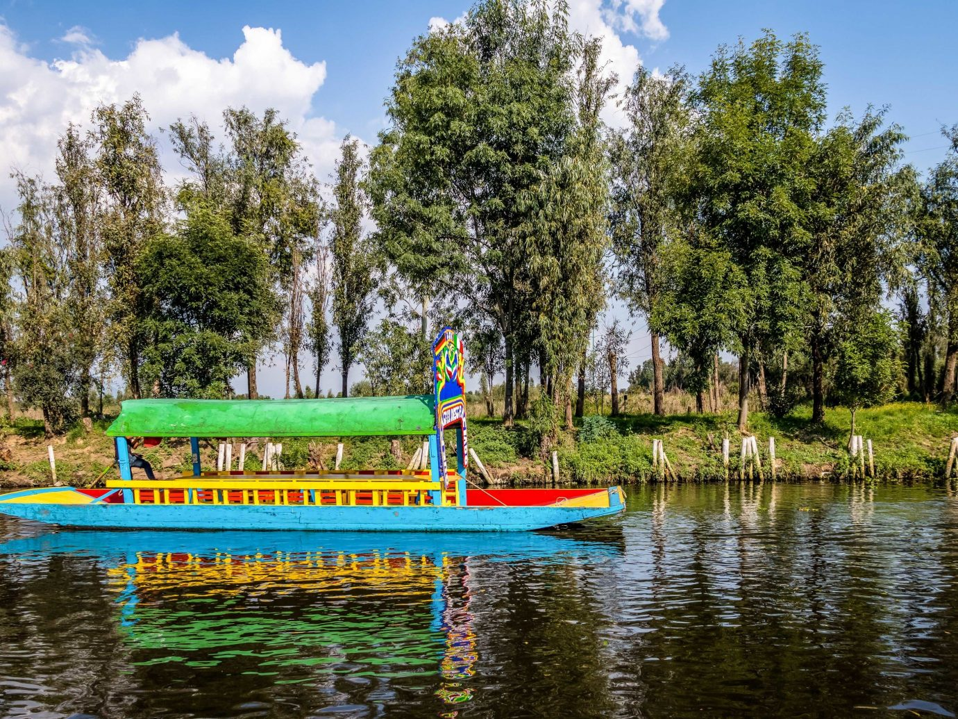 City Mexico City Trip Ideas tree outdoor water sky green waterway Nature body of water water transportation reflection plant bayou Boat Lake leisure River wetland landscape Canal pond bank recreation tourism watercourse colored Forest colorful Raft wooded