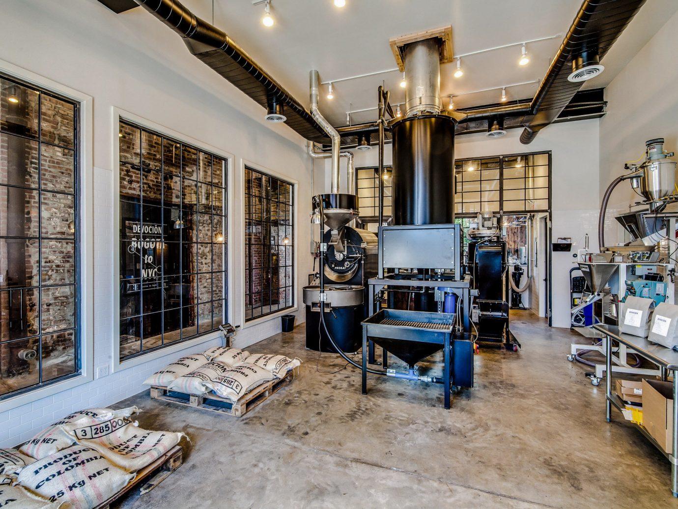 Brooklyn City coffee coffee beans coffee maker coffeemaker Food + Drink industrial machine NYC steel tool indoor room Living floor interior design furniture