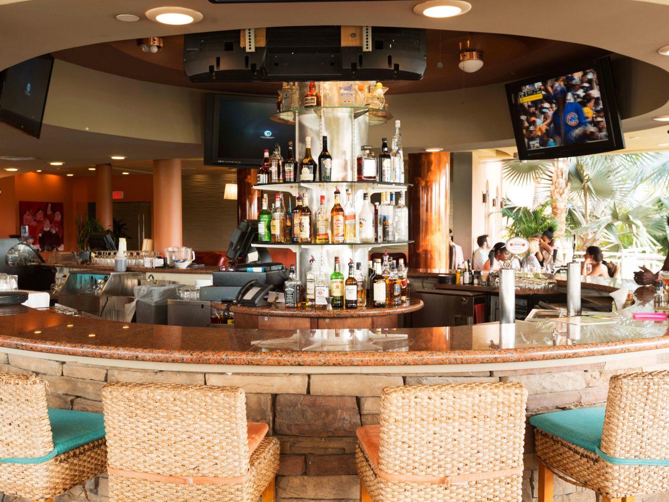 Hotels indoor ceiling meal restaurant estate Bar interior design Resort furniture Island
