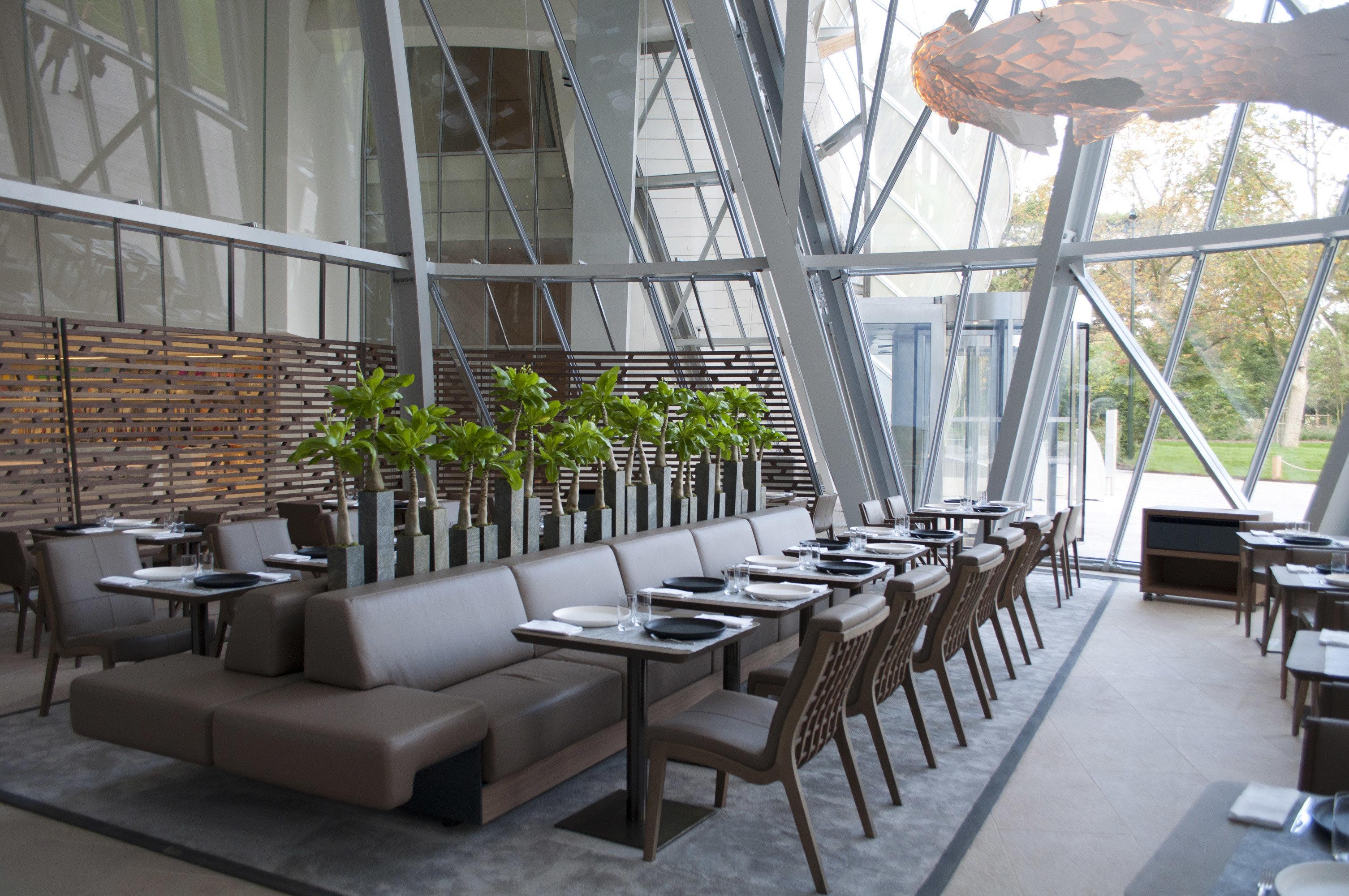 Food + Drink floor indoor room restaurant interior design Design estate table outdoor structure furniture