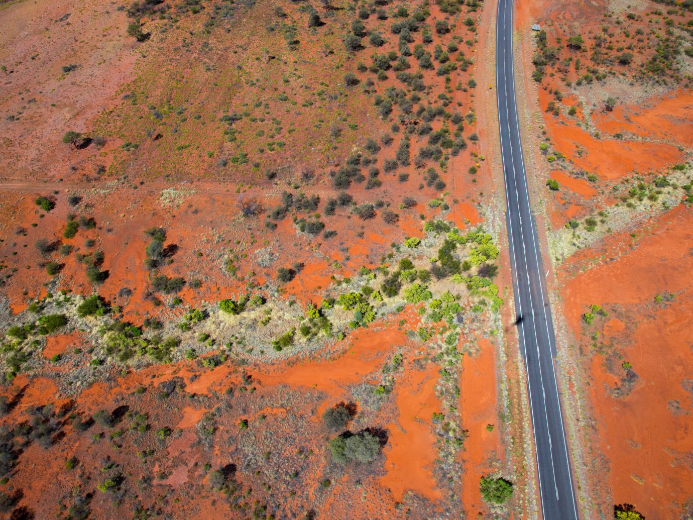 Aerial view of Australian outback