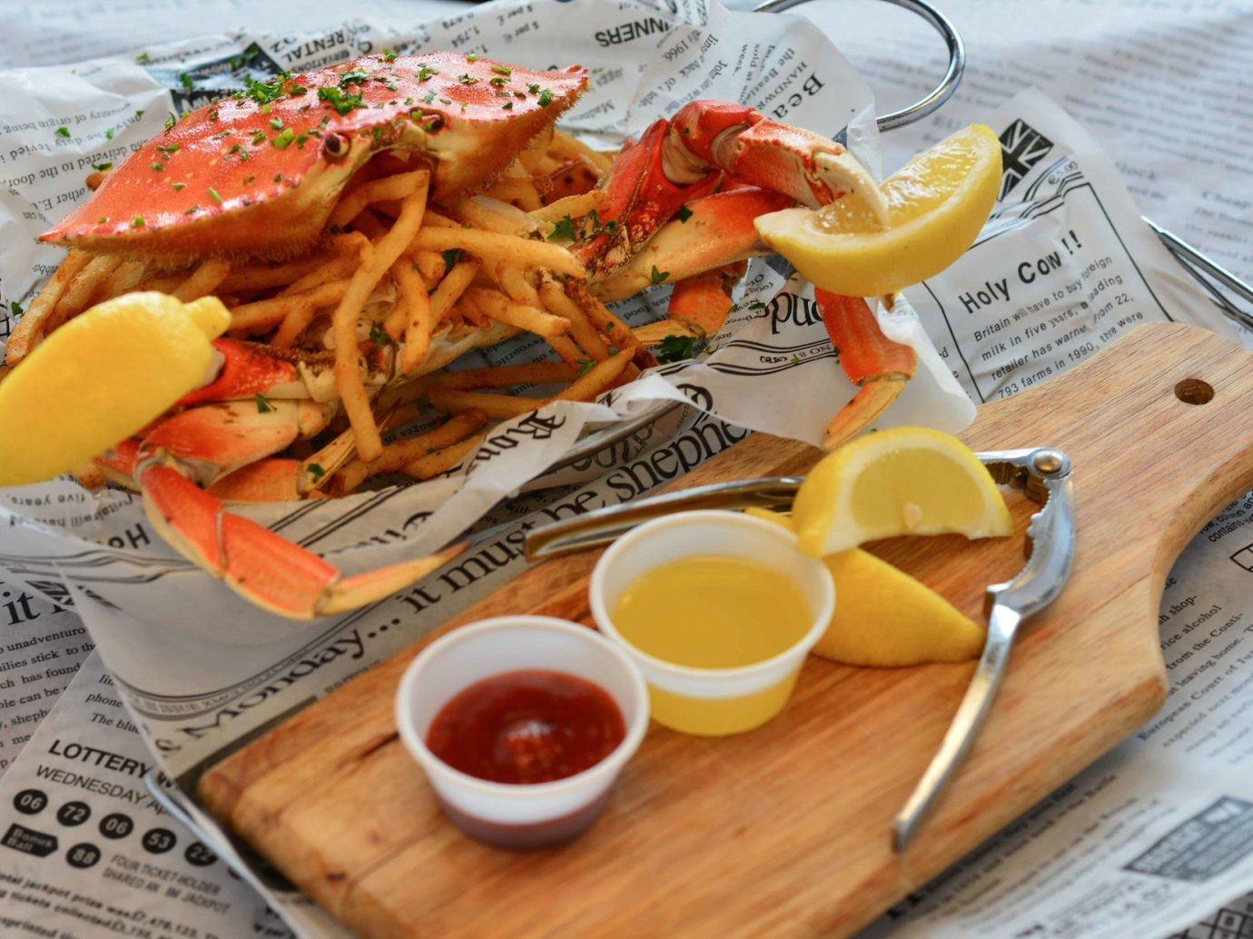 comfort food crab Dining Eat food Food + Drink fries junk food Seafood Trip Ideas table dish coffee cup meal cuisine lunch produce breakfast spaghetti