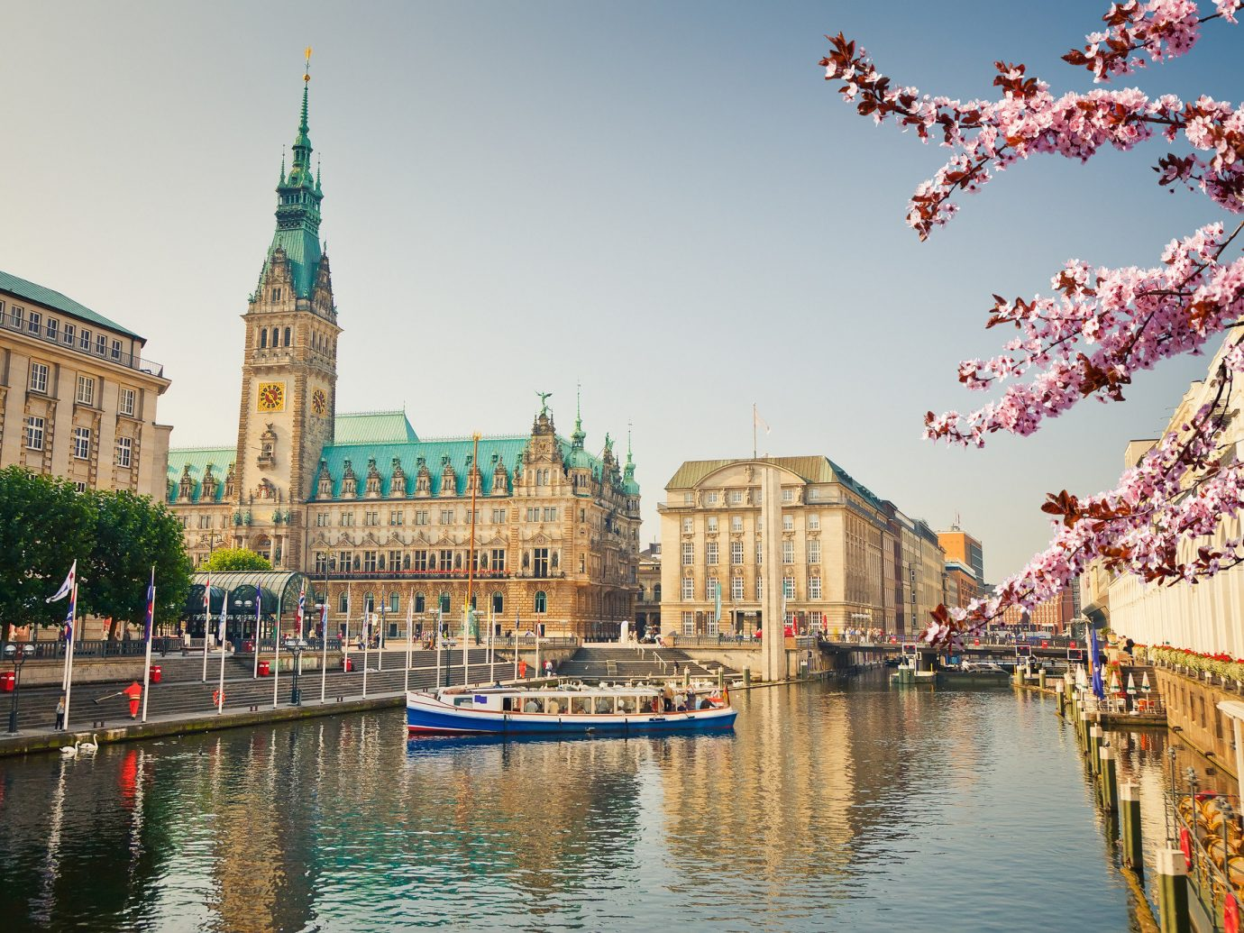 Hotels Lakes + Rivers Landmarks Trip Ideas water outdoor Boat scene landmark City cityscape River waterway Canal tourism flower Harbor