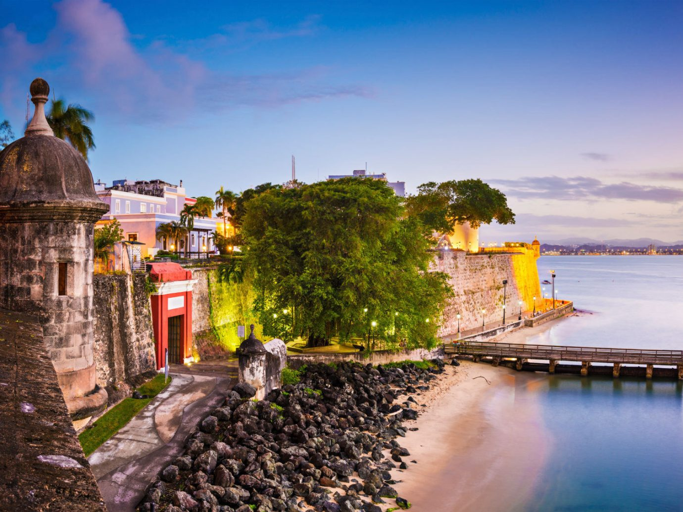 Romance Trip Ideas outdoor sky landmark water Town reflection vacation Sea tourism morning Coast evening landscape cityscape sunlight tower Sunset travel waterway castle Ruins