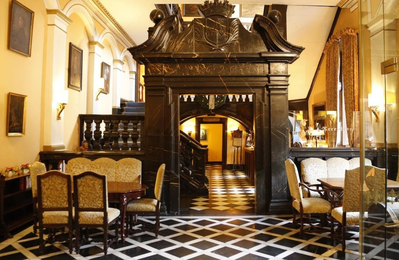 Hotels Landmarks Luxury Travel indoor floor Living room chair property interior design Lobby furniture living room Dining estate decorated