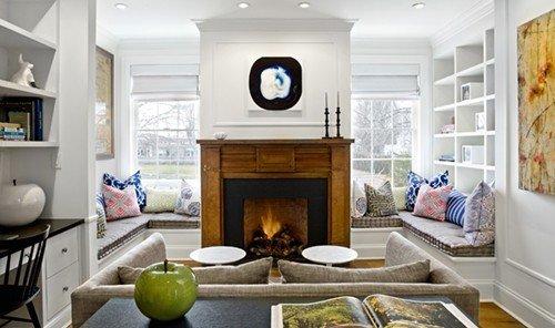 Food + Drink indoor Living living room room floor property window home Fireplace estate hardwood interior design cottage real estate Design farmhouse Kitchen furniture