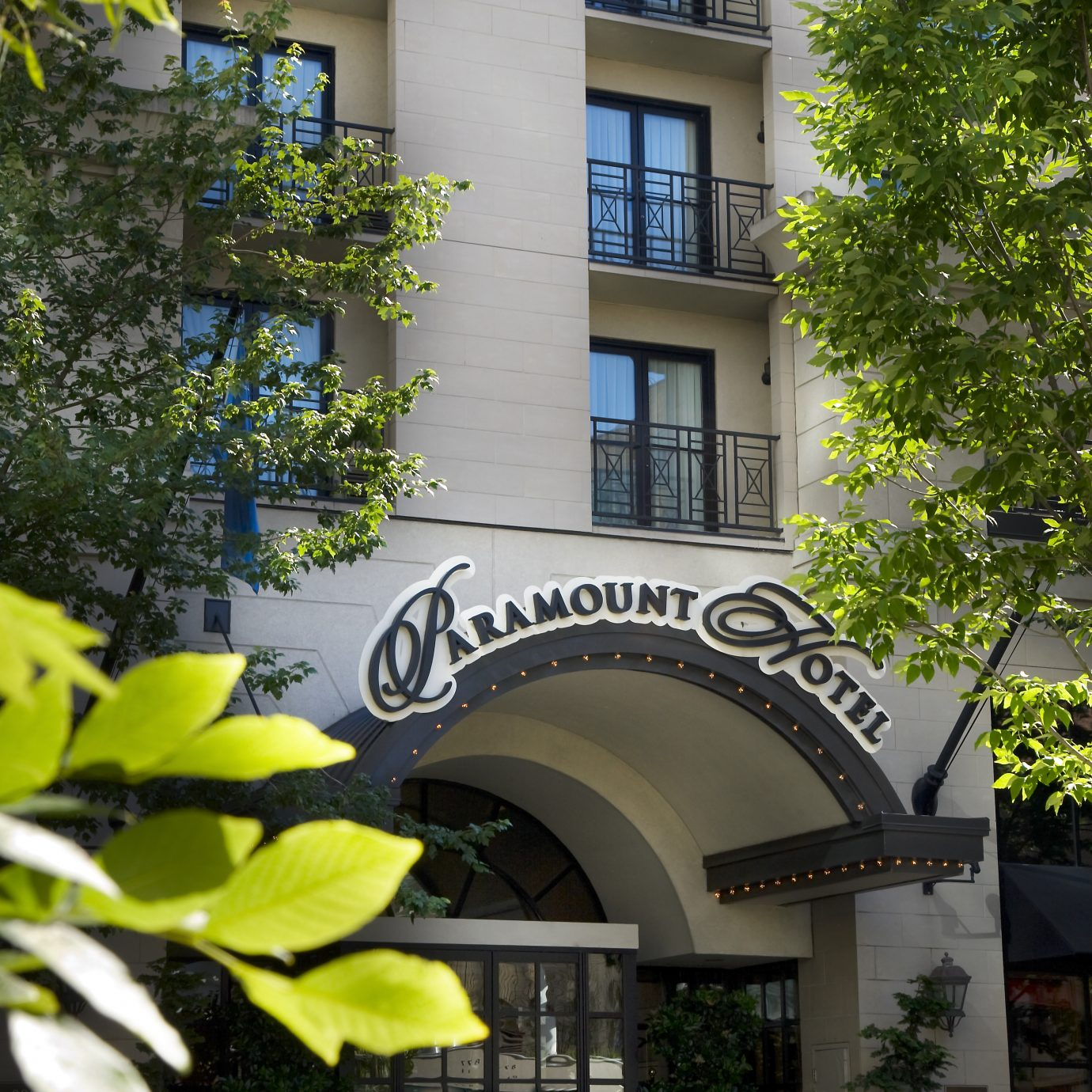 exterior close up of Paramount Portland
