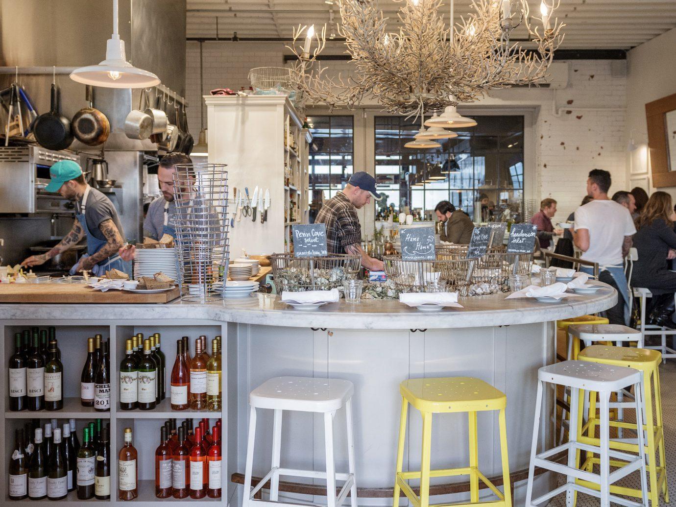 Food + Drink indoor Kitchen ceiling interior design table furniture area