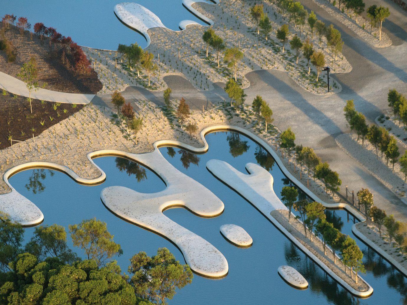 Offbeat aerial photography bird's eye view ecosystem residential area estate urban design screenshot