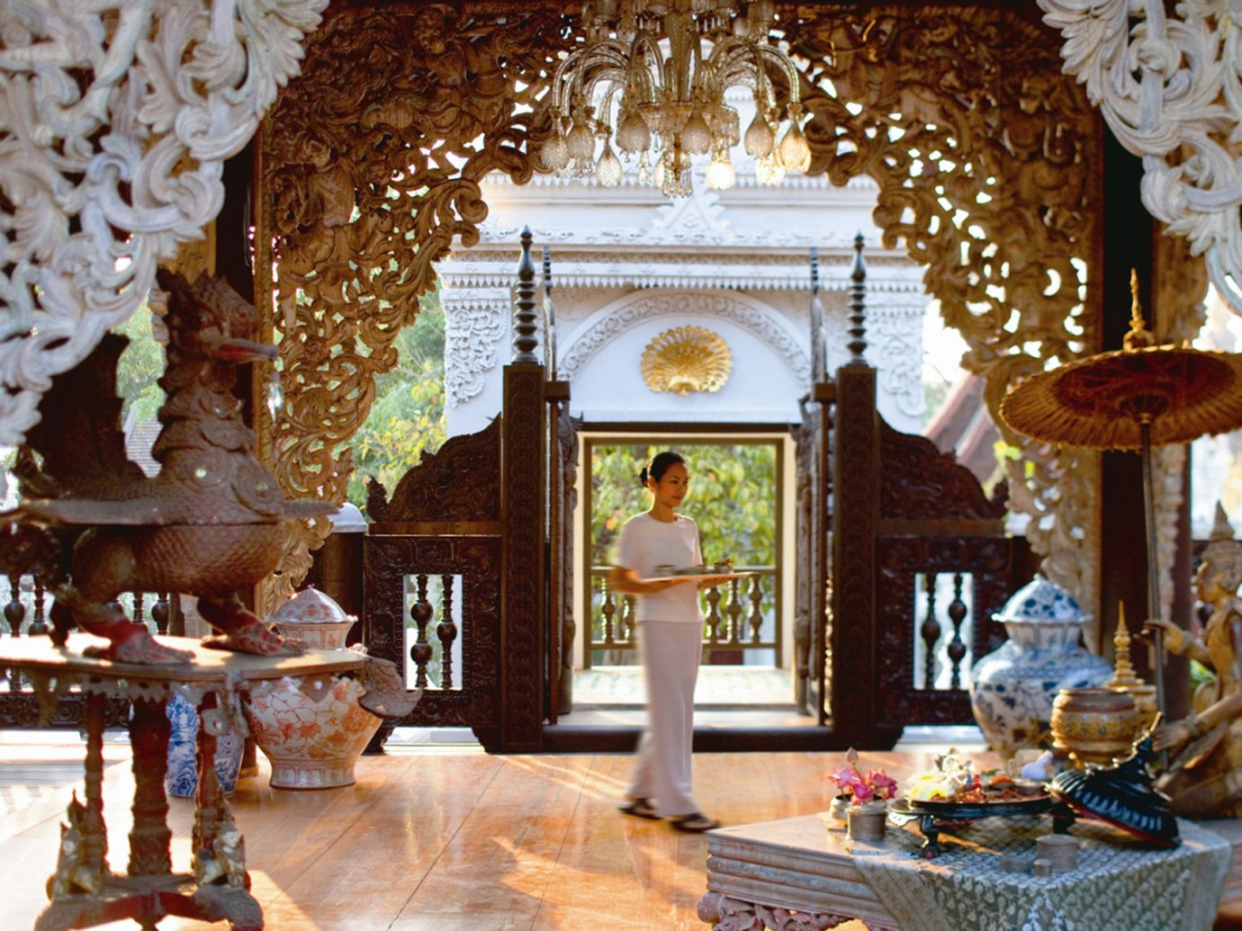 Health + Wellness Hotels Spa Retreats indoor building room estate home palace living room interior design temple place of worship mansion wat decorated altar