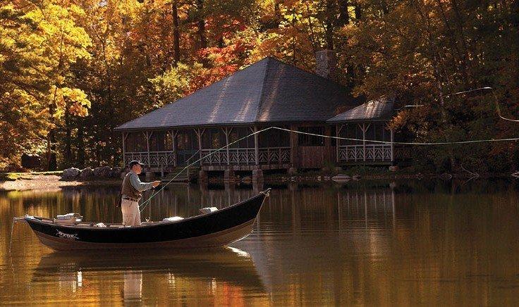 Person fishing at Equinox Resort