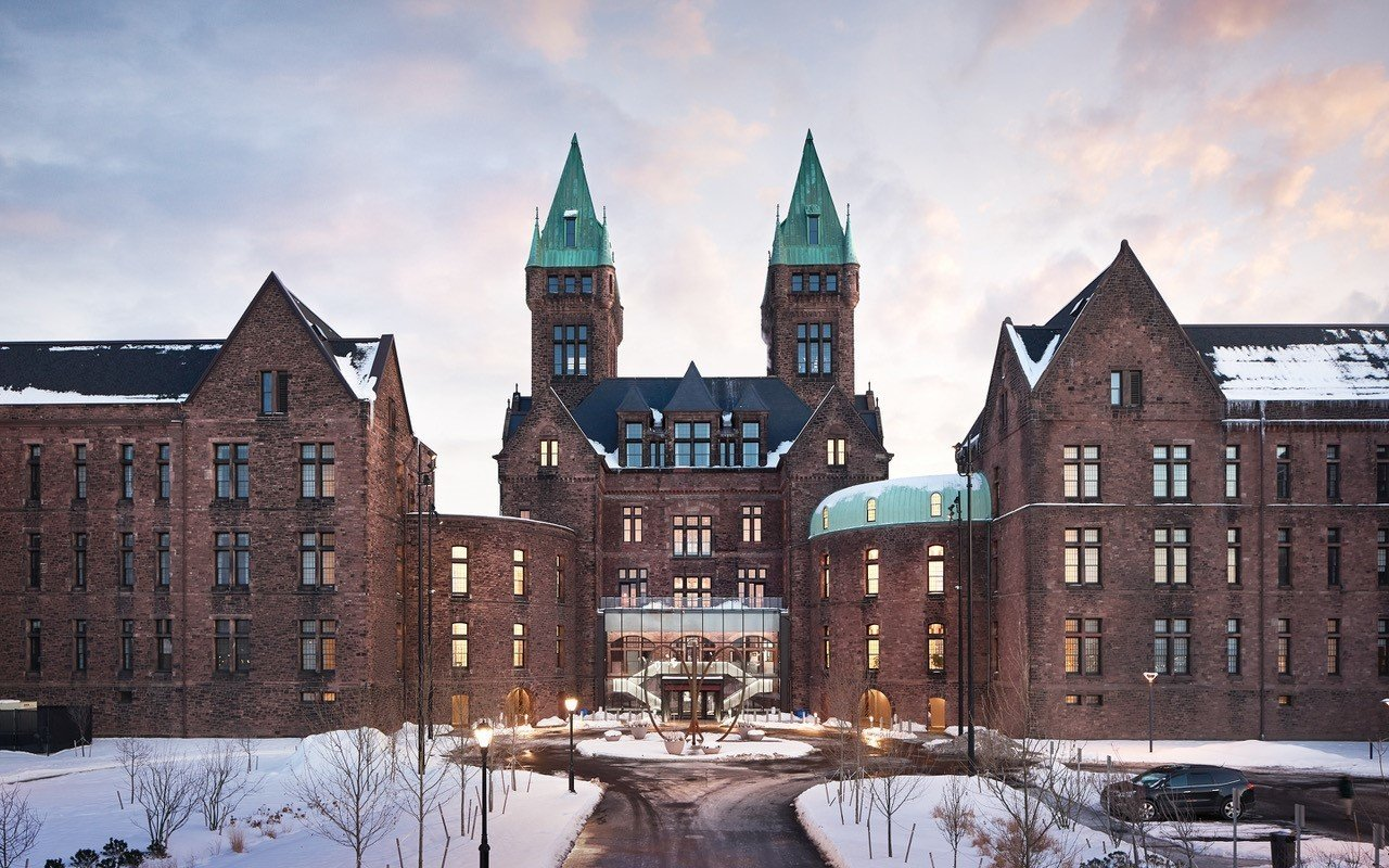 Trip Ideas Winter Town landmark building City snow medieval architecture sky château facade stately home tree listed building window estate house university