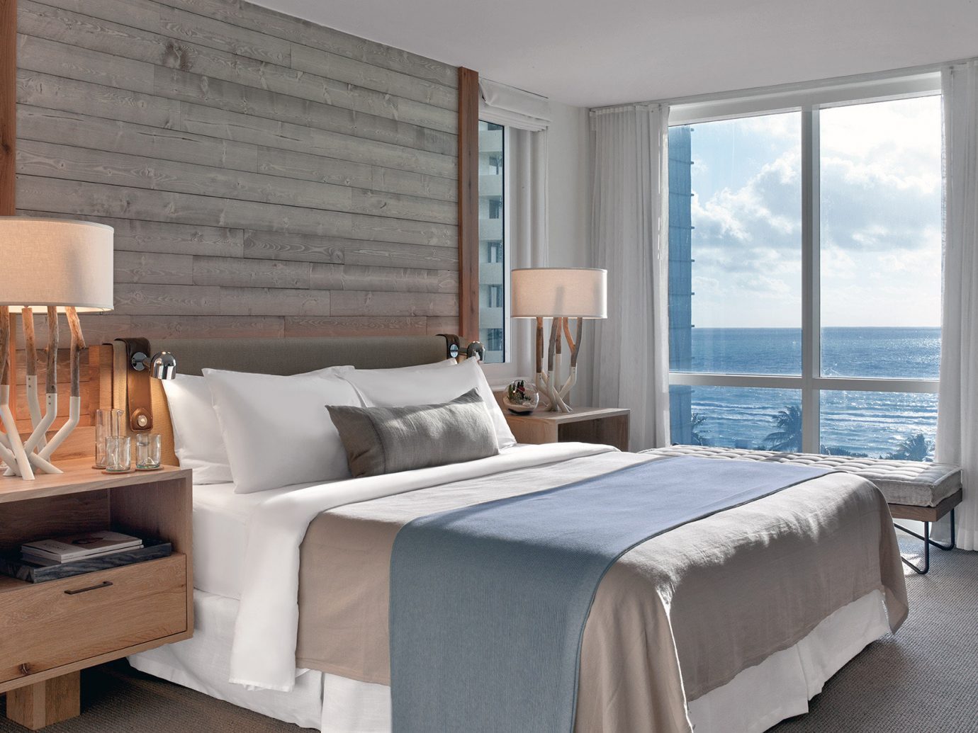 Balcony Beachfront Bedroom City Health + Wellness Hotels Luxury Miami Miami Beach Romance Romantic Suite Trip Ideas Yoga Retreats window indoor sofa bed room floor wall property hotel furniture ceiling interior design home living room cottage real estate bed frame estate bed sheet apartment decorated