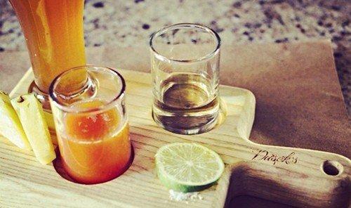 Food + Drink cup table Drink alcoholic beverage food distilled beverage glass produce liqueur juice cocktail beverage sliced