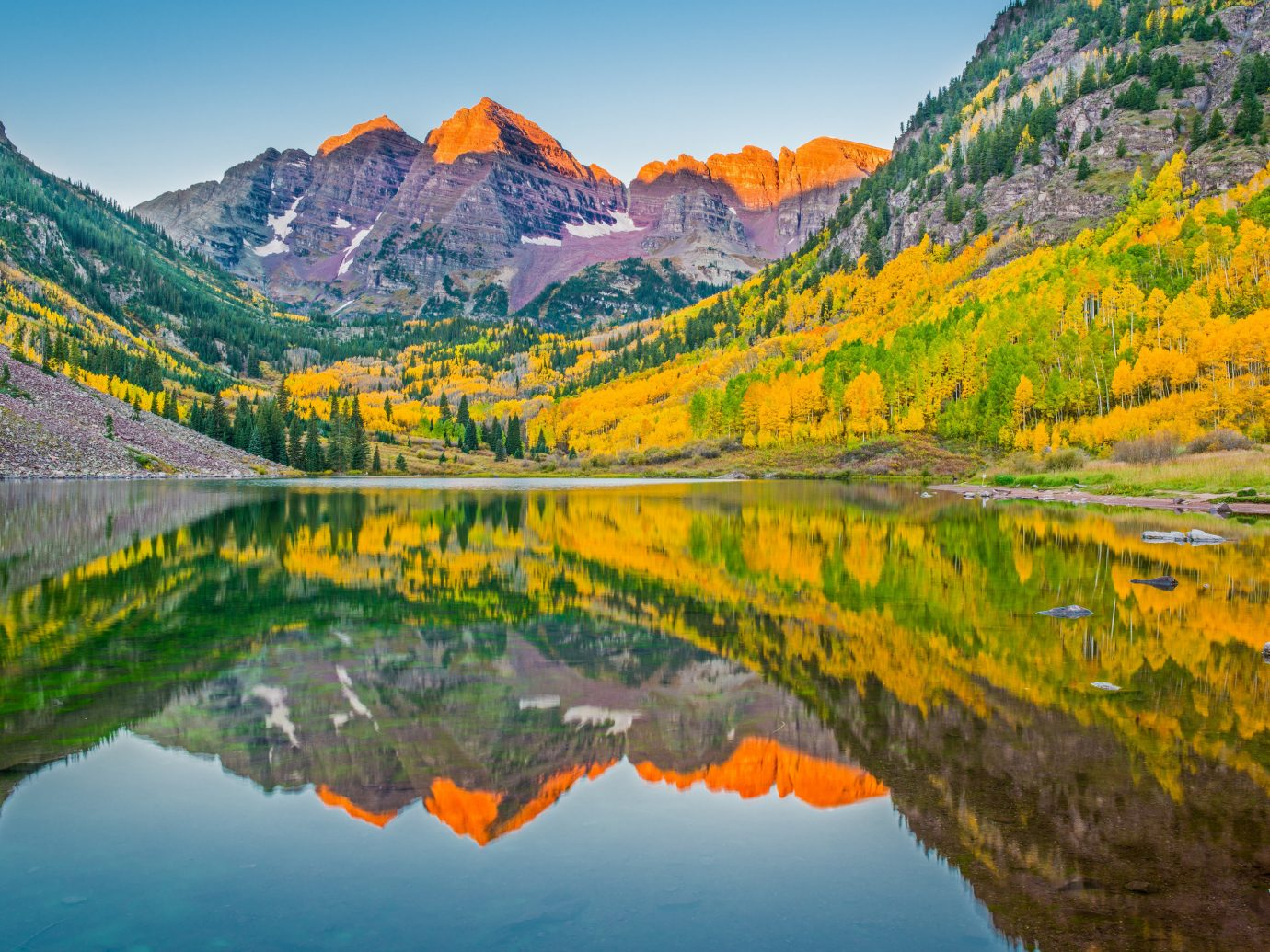 News Trip Ideas mountain sky reflection Nature leaf outdoor wilderness mount scenery Lake autumn valley national park water bank landscape tarn tree fjord computer wallpaper larch canyon fell mountain range