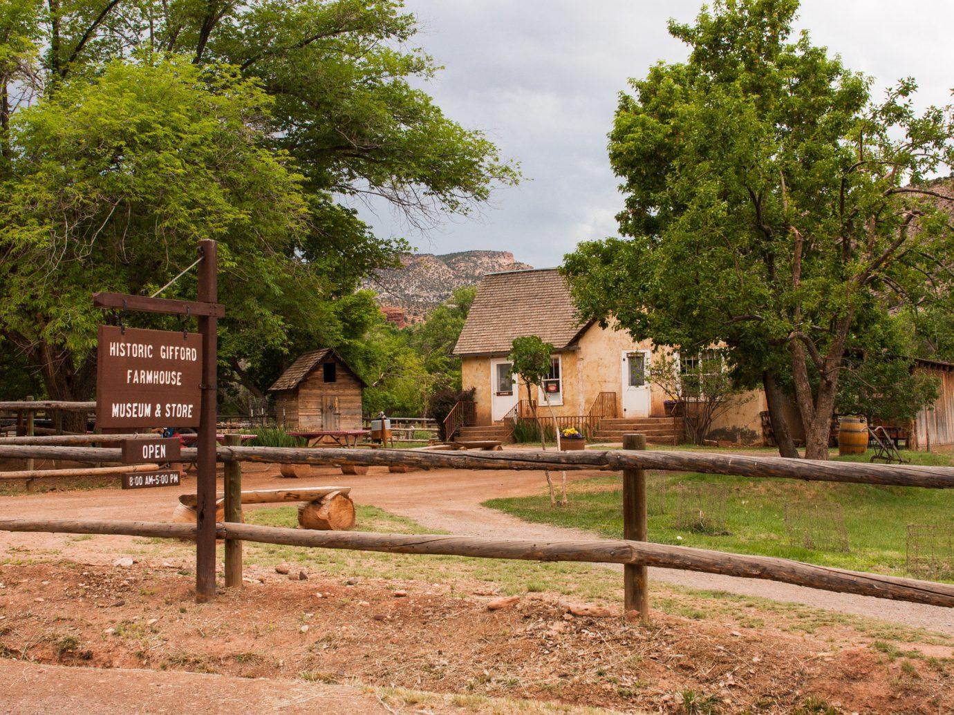 National Parks Outdoors + Adventure Trip Ideas tree outdoor ground grass park estate rural area Village home waterway Garden dirt area