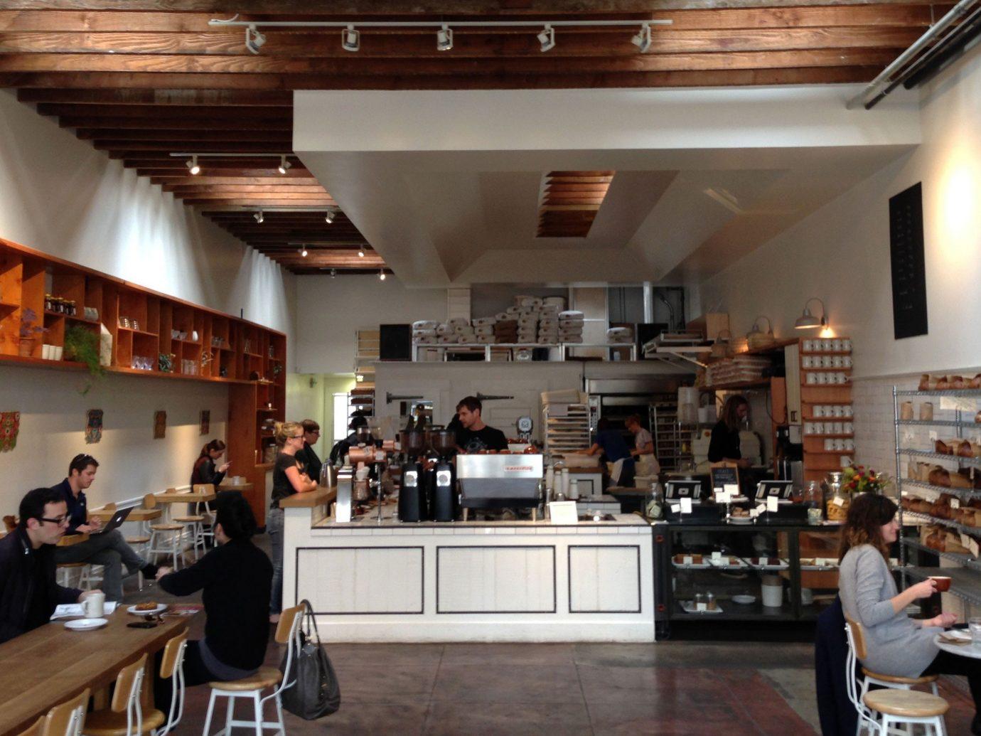 Food + Drink indoor ceiling floor Kitchen person restaurant interior design café Design Bar