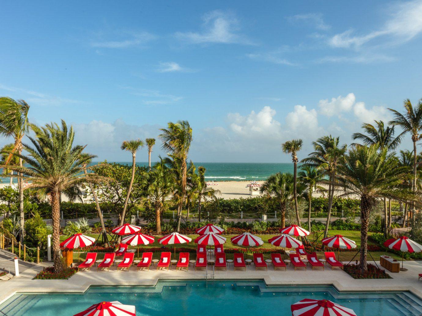 City Hotels Luxury Miami Miami Beach Romance sky outdoor tree leisure swimming pool Resort vacation estate amusement park Beach Water park caribbean palm lined