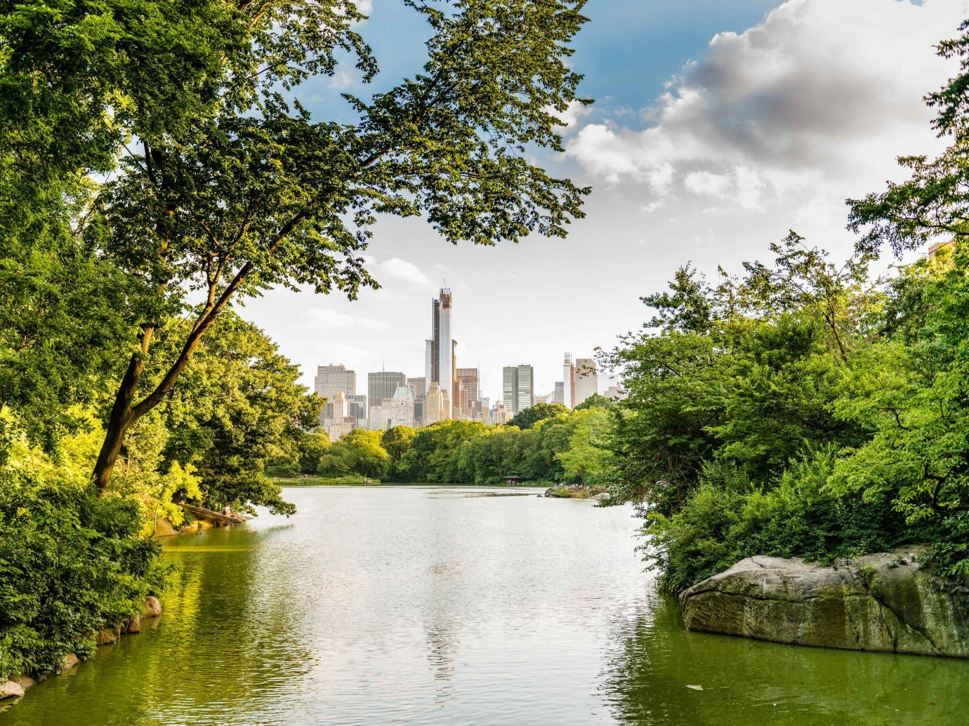 Arts + Culture Brooklyn Canada Hawaii Los Angeles Morocco New York Oahu Offbeat Scotland Toronto waterway water Nature reflection green body of water leaf tree sky River Canal bank daytime watercourse pond plant bayou Lake City grass landscape water resources reservoir park skyline