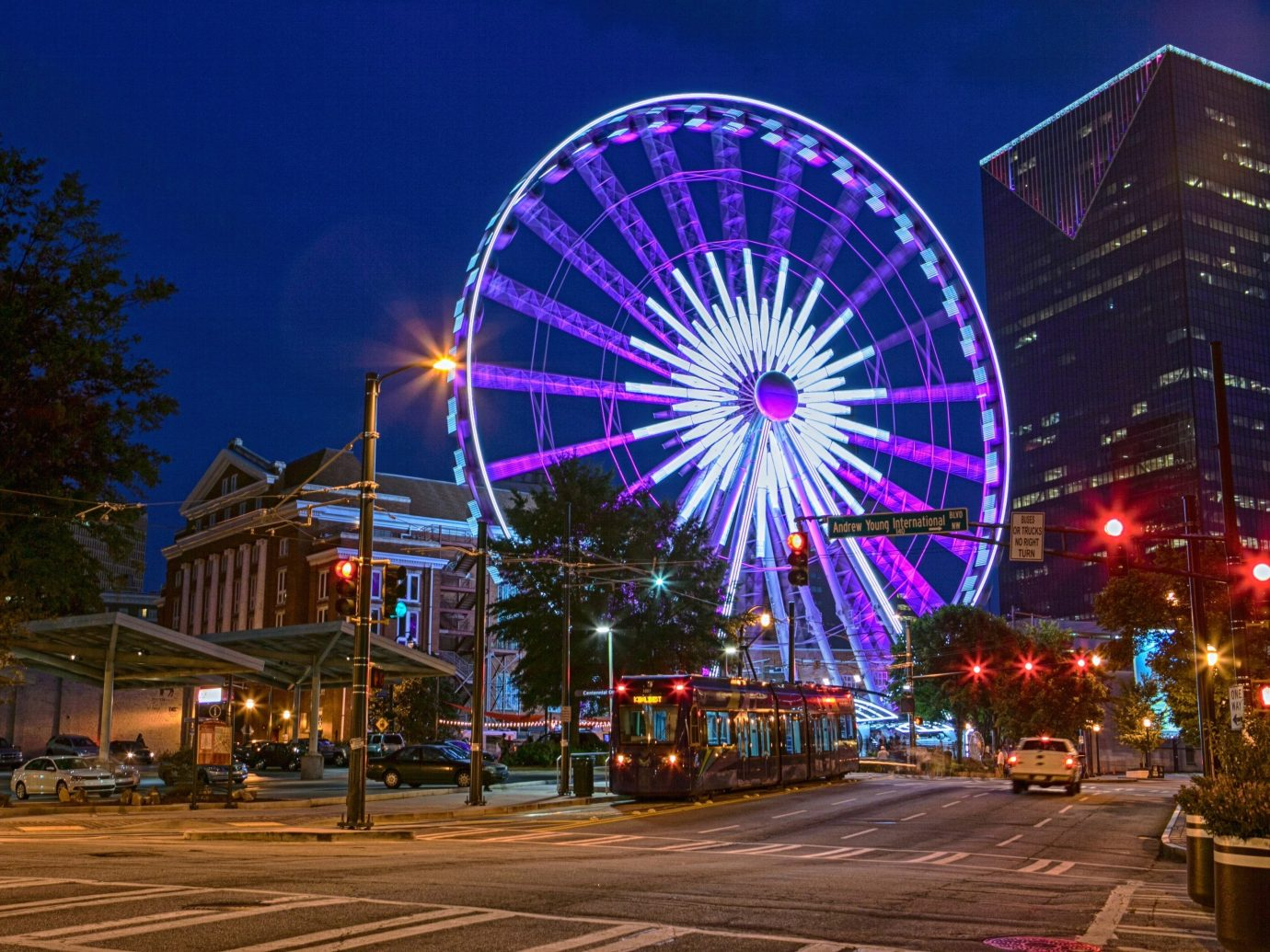 Trip Ideas outdoor ferris wheel geographical feature night outdoor recreation outdoor object amusement park tourist attraction recreation cityscape park colorful