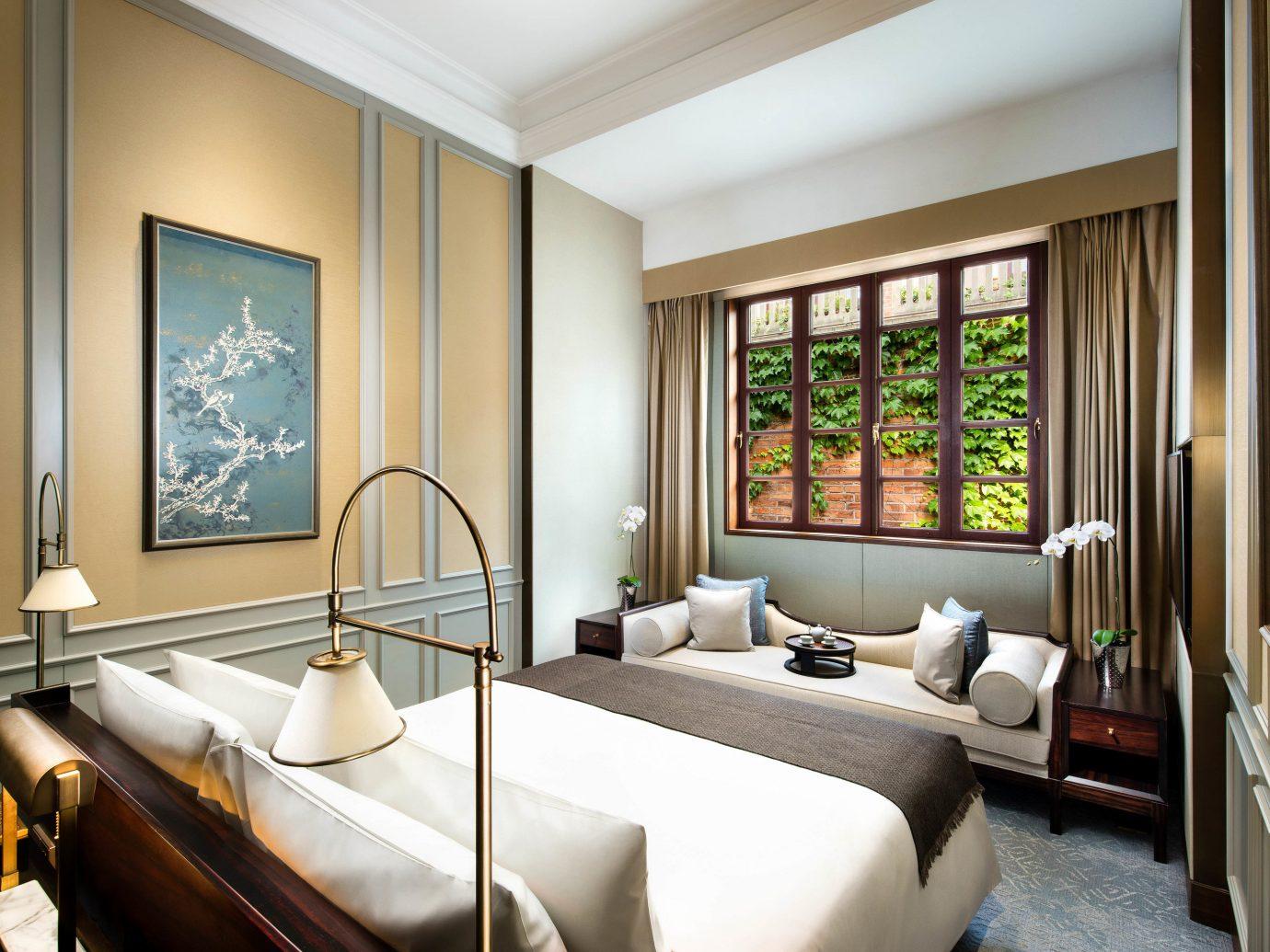 Boutique Hotels Luxury Travel indoor room window interior design Suite ceiling Bedroom real estate hotel interior designer furniture