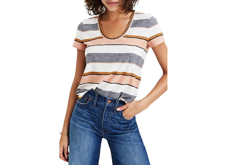 Style + Design person clothing shoulder jeans t shirt joint denim product sleeve waist fashion model neck trouser posing pocket abdomen