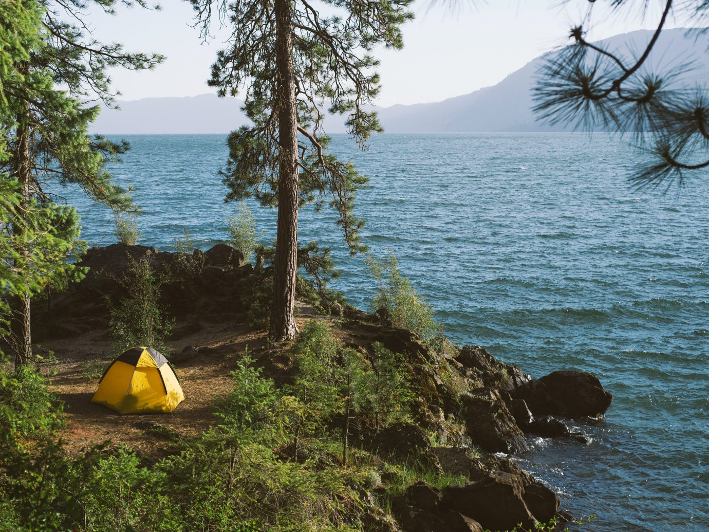 Lakes + Rivers Outdoors + Adventure Trip Ideas tree outdoor water Nature wilderness shore Sea Coast rock Lake vacation Ocean yellow bay cliff overlooking terrain plant