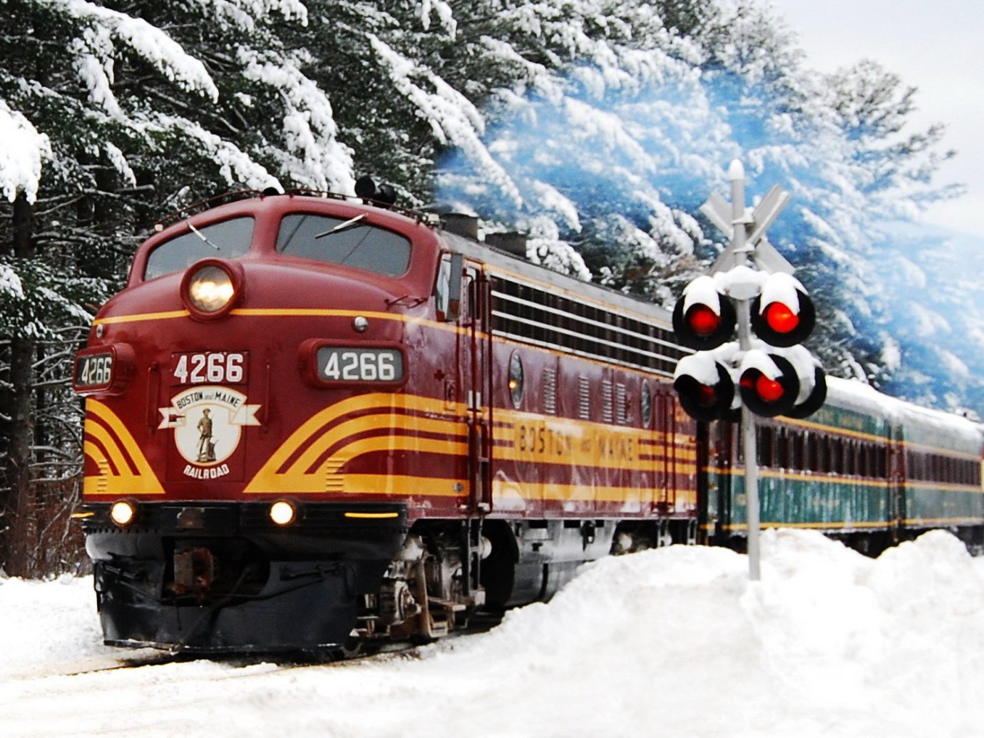 Trip Ideas snow outdoor track transport Winter land vehicle train vehicle weather covered season locomotive rolling stock rail transport traveling day
