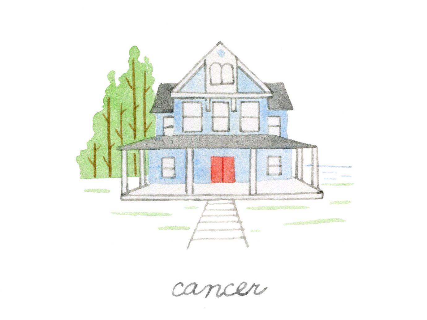 Style + Design property home house drawing sketch illustration Design cottage