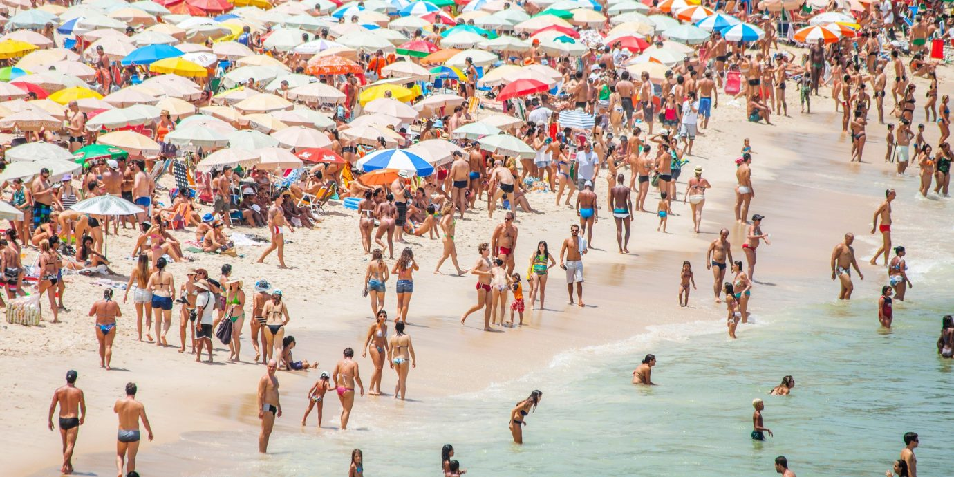 outdoor Beach crowd vacation Nature many walkway people Sea Water park sand several shore colored