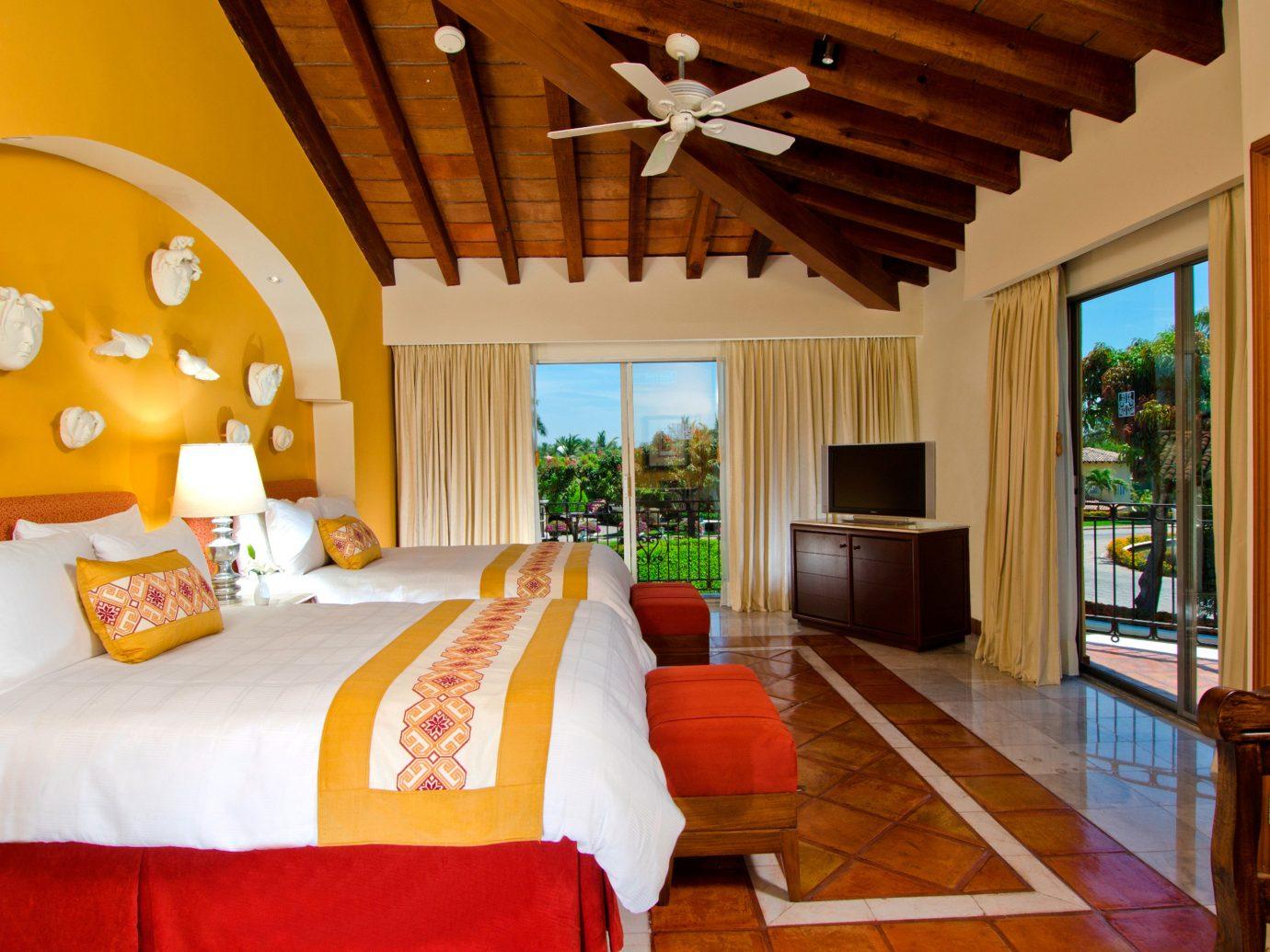 All-Inclusive Resorts Bedroom Hotels Patio Scenic views Suite indoor floor wall room property Resort estate cottage Villa home living room real estate interior design farmhouse furniture
