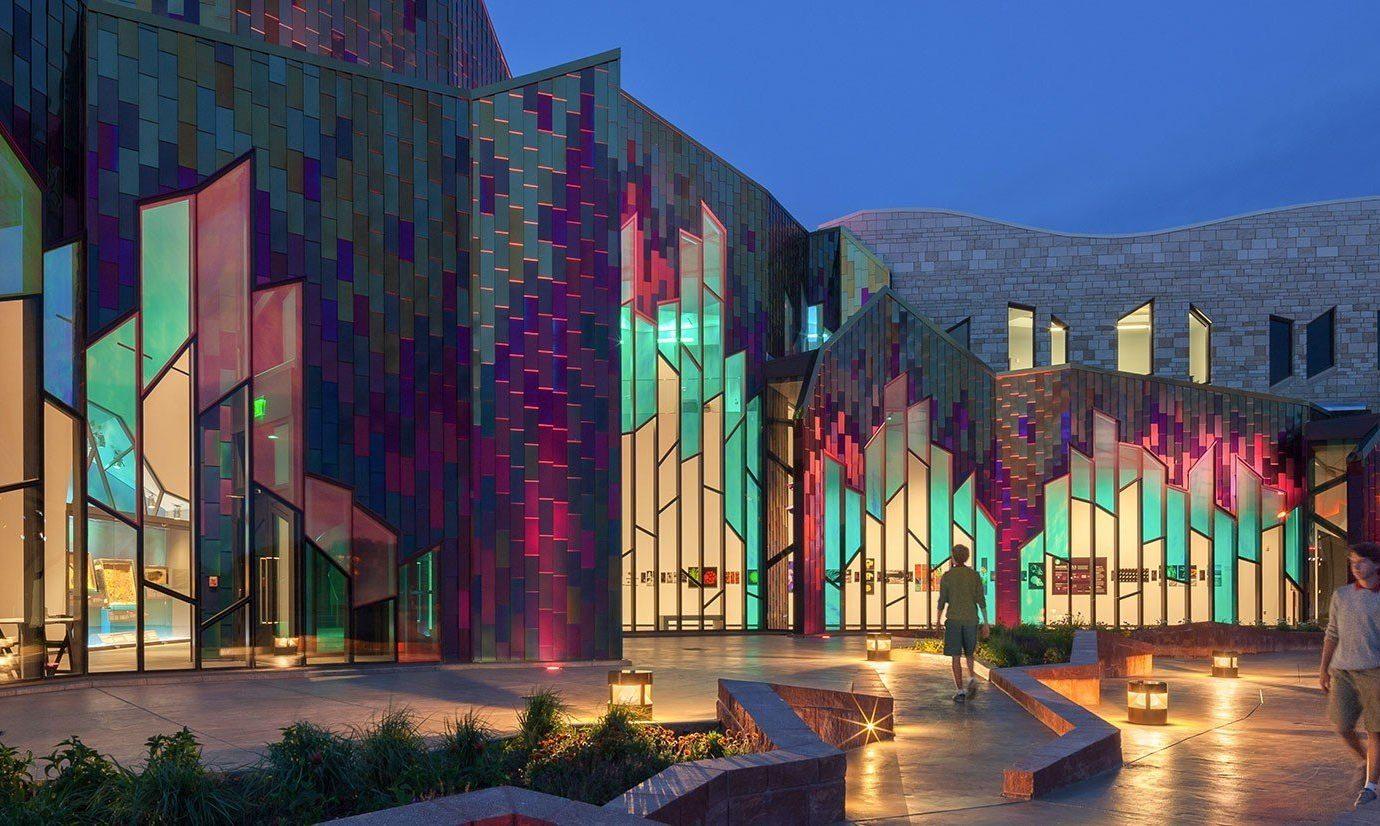 Trip Ideas color landmark metropolis art cityscape facade evening mural modern art colorful