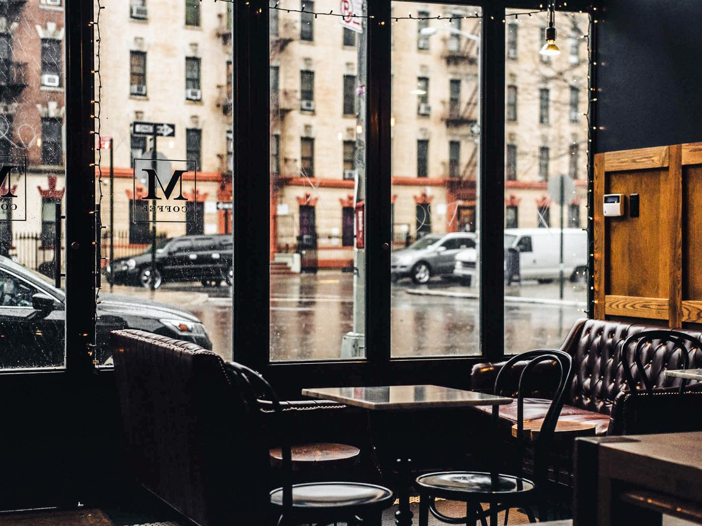 Brooklyn Food + Drink NYC building outdoor urban area window City street car reflection
