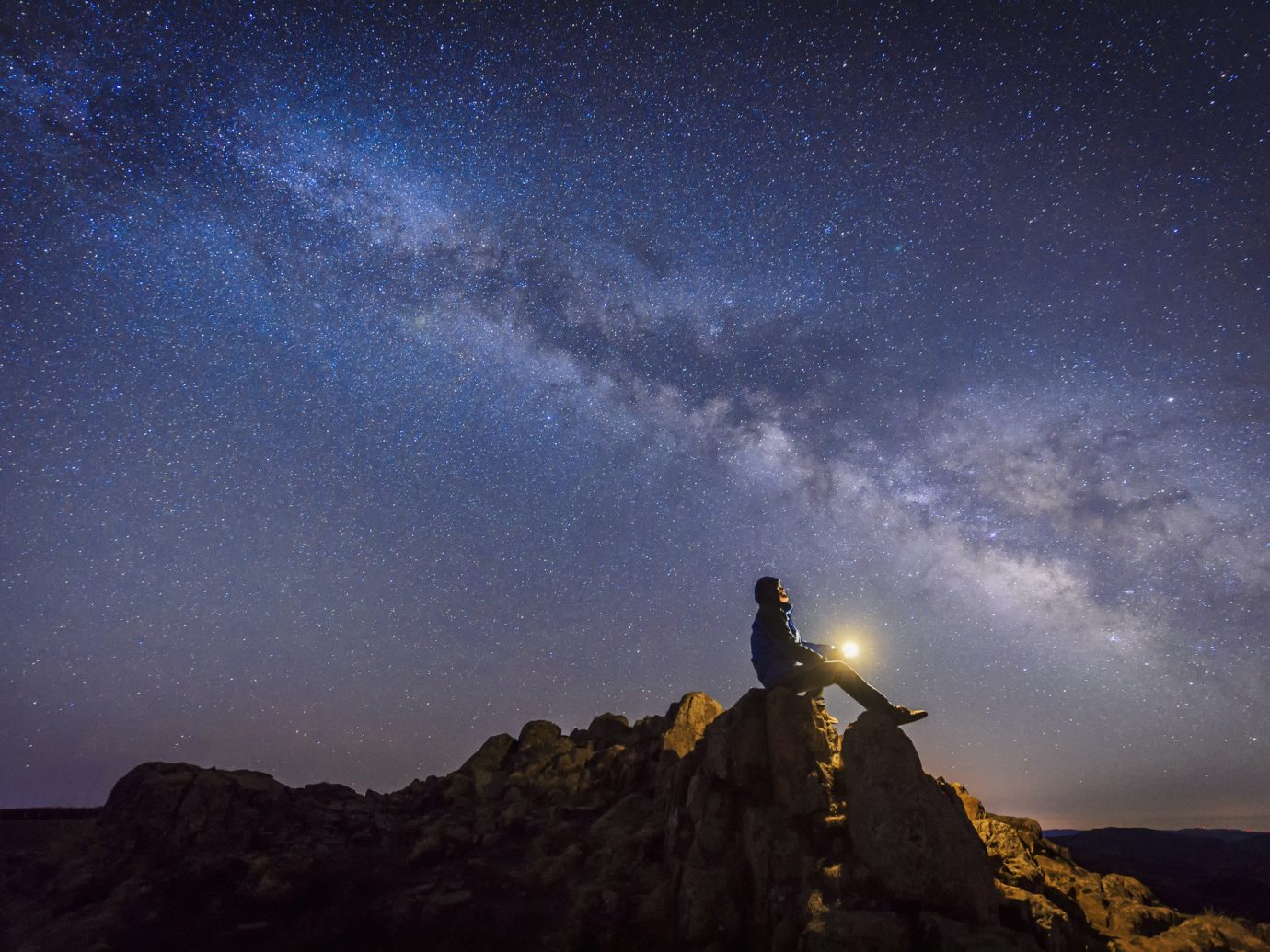 Trip Ideas outdoor sky mountain galaxy night star atmosphere astronomical object astronomy hill darkness Nature spiral galaxy moonlight air outer space dawn milky way screenshot dusk hillside Night Sky