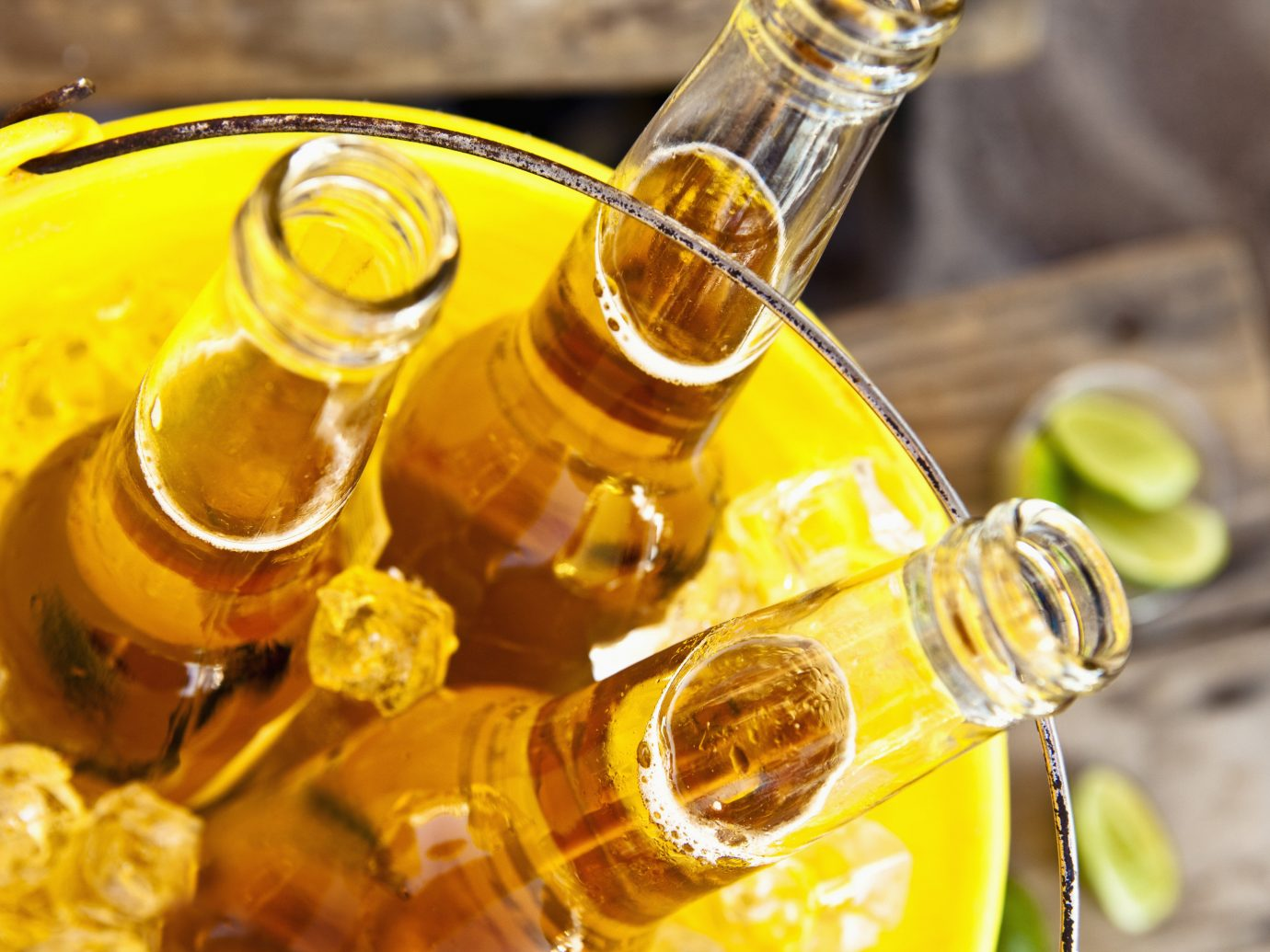 Beach yellow liqueur alcoholic beverage distilled beverage food alcohol land plant Drink produce wine macro photography bottle flowering plant gold meal honey