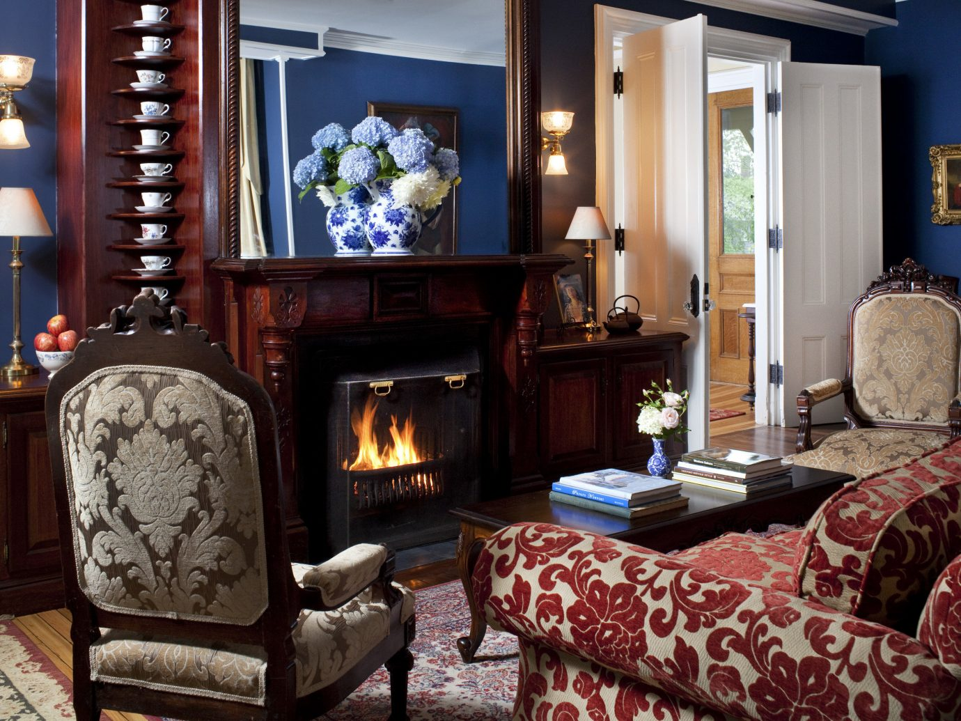 Boutique Hotels Hotels Romantic Getaways Romantic Hotels indoor Living room wall Fireplace floor living room fire interior design home furniture decorated