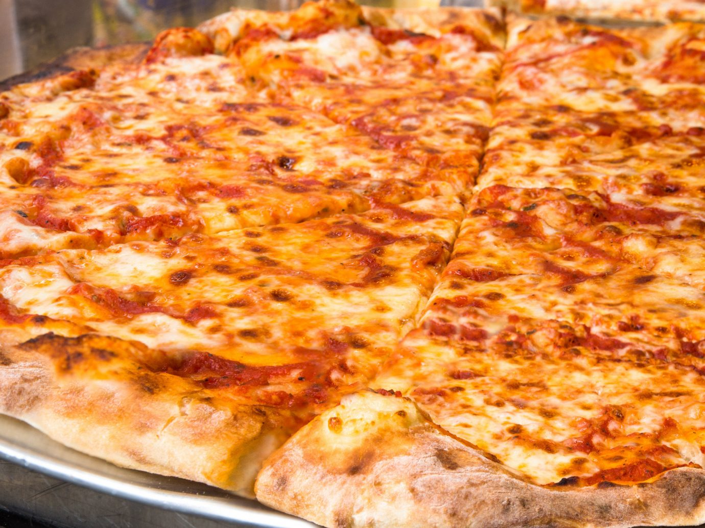 Brooklyn City Food + Drink NYC pizza food dish sitting pizza cheese indoor cuisine cheese california style pizza italian food european food pan tarte flambée sicilian pizza zwiebelkuchen junk food american food turkish food pizza stone recipe pepperoni baked sliced cooked fresh silver several