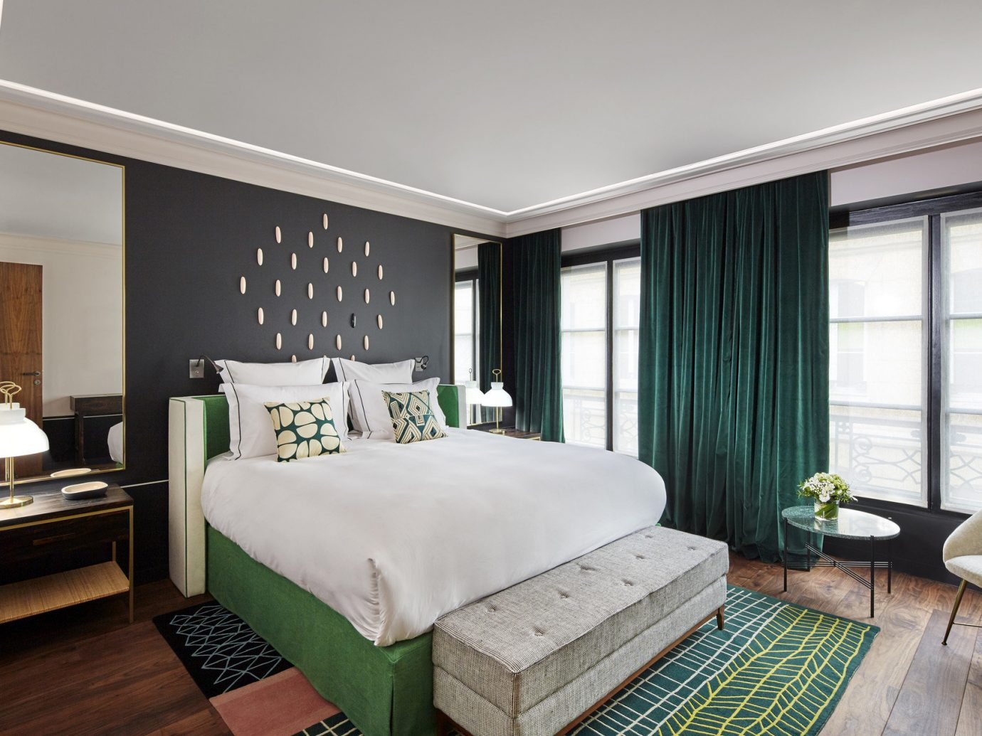 bed Bedroom Boutique Hotels Elegant extravagant fancy Hotels Luxury natural light regal sophisticated Style + Design stylish floor indoor wall window room property condominium living room estate Suite interior design real estate home furniture cottage hotel decorated
