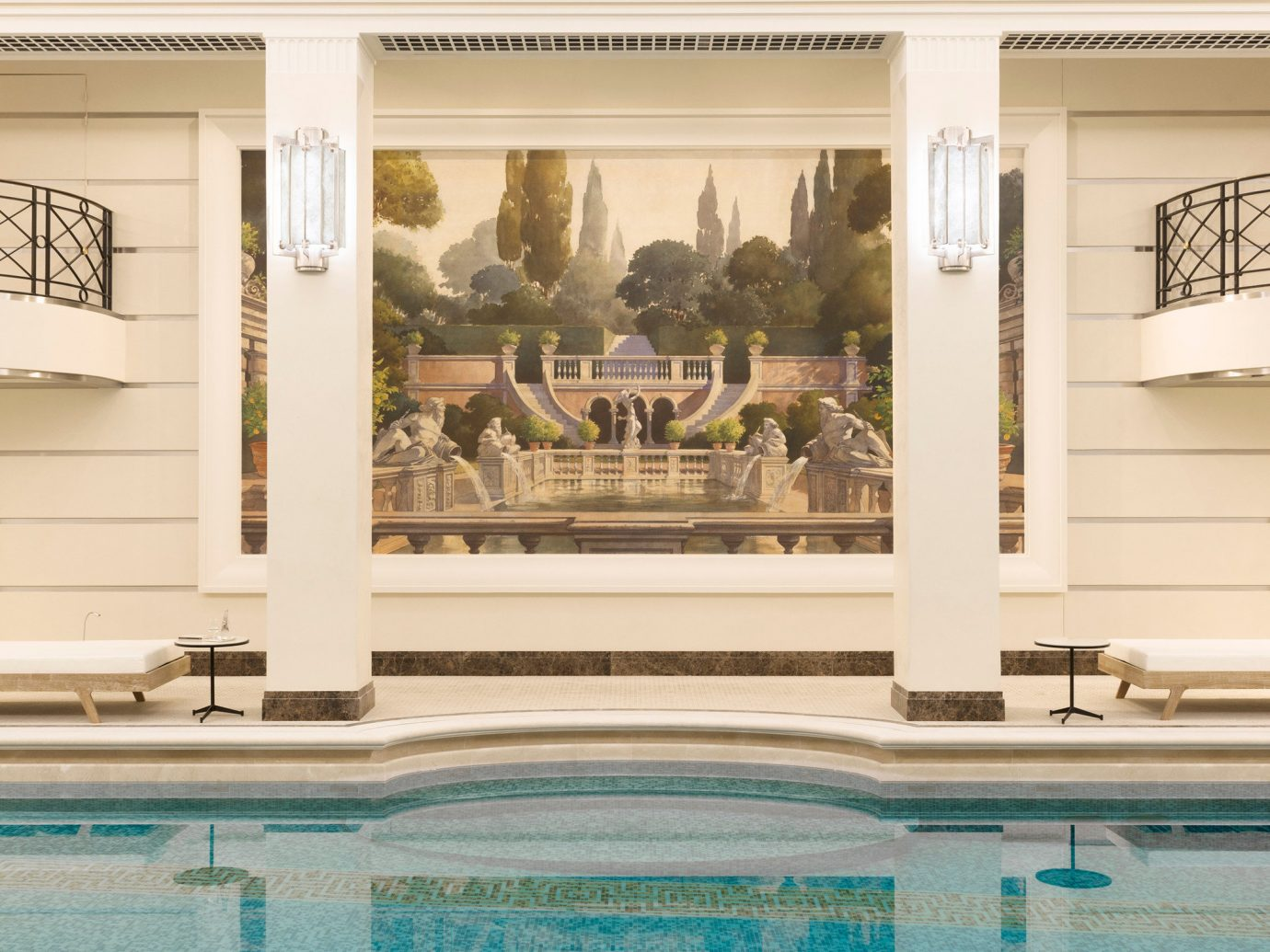 Trip Ideas swimming pool property building estate home mansion facade palace colonnade