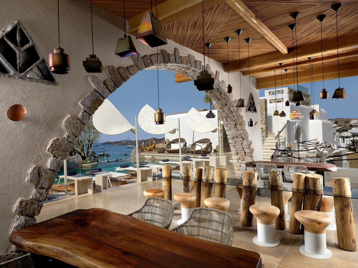 Hotels indoor wood restaurant Resort interior design tourist attraction