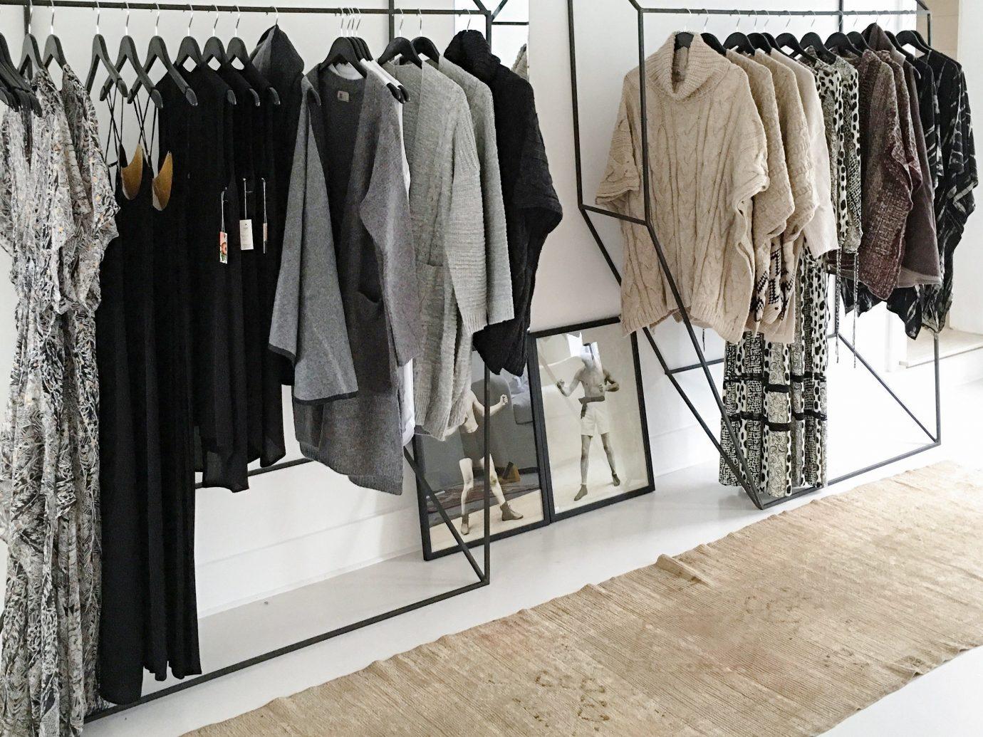 Mountains + Skiing Trip Ideas clothes hanger furniture Boutique room closet floor fashion shelf flooring outerwear interior design wardrobe buyer fashion design shelving clothes rack