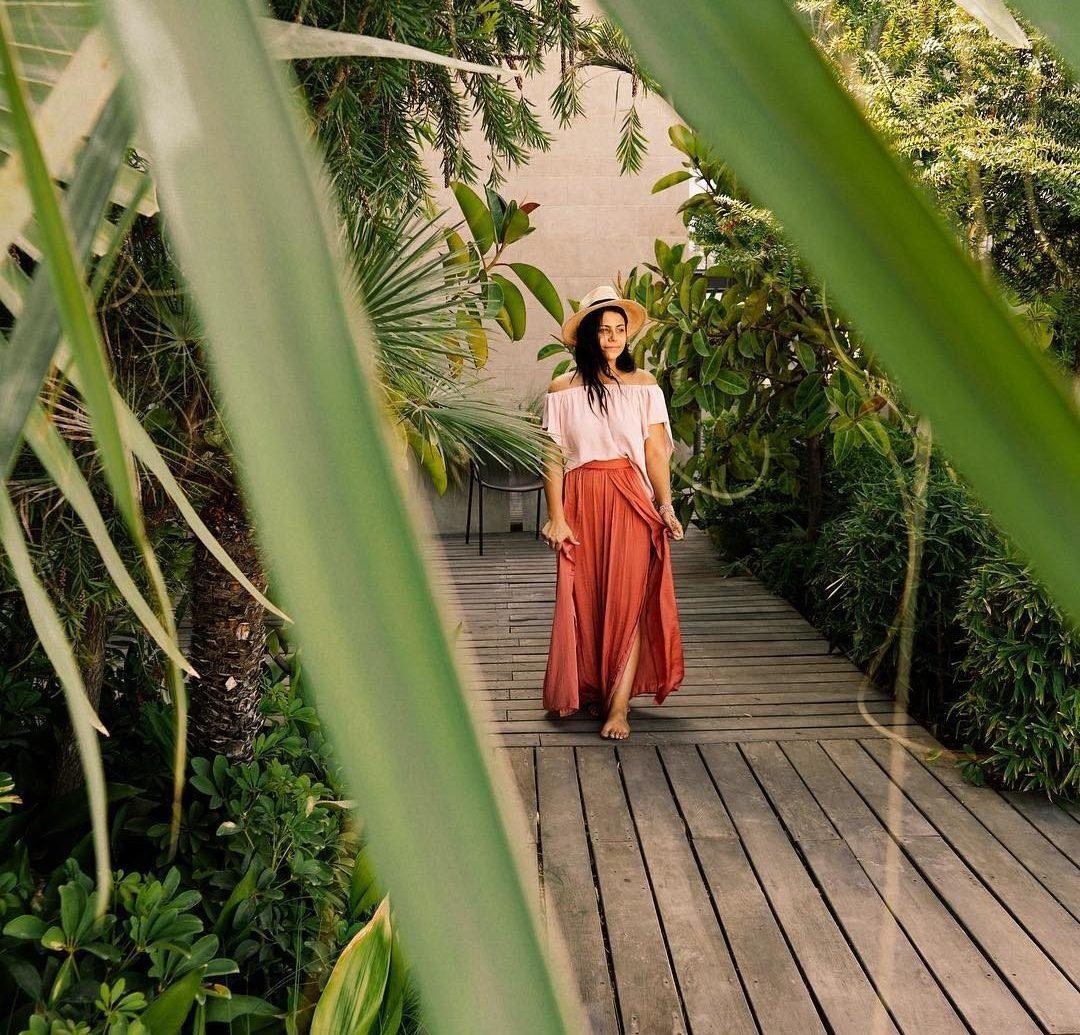 Influencers + Tastemakers Travel Shop Trip Ideas leaf plant flora grass girl tree Jungle leisure grass family spring Garden